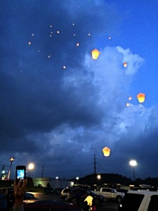 Miracles in the Sky lantern release for the benefit of WVU Children's Hospital